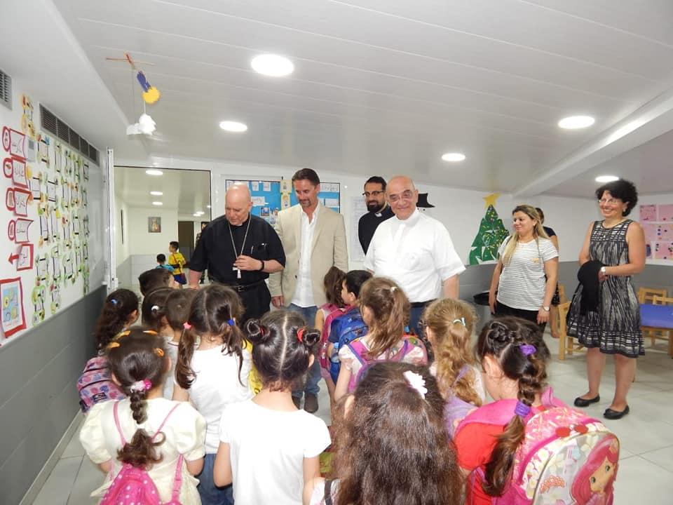 زيارة المطران صاموئيل اكيلا في مركز ام الرحمة الإلهية