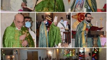 المطران قصارجي يحتفل برتبة تبريك شعلة المجوس والقداس الإلهي
