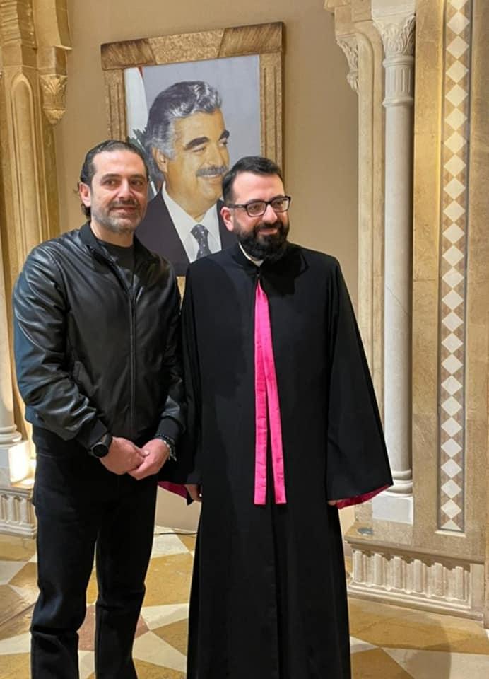 المونسنيور طرابلسي يزور الرئيس الحريري