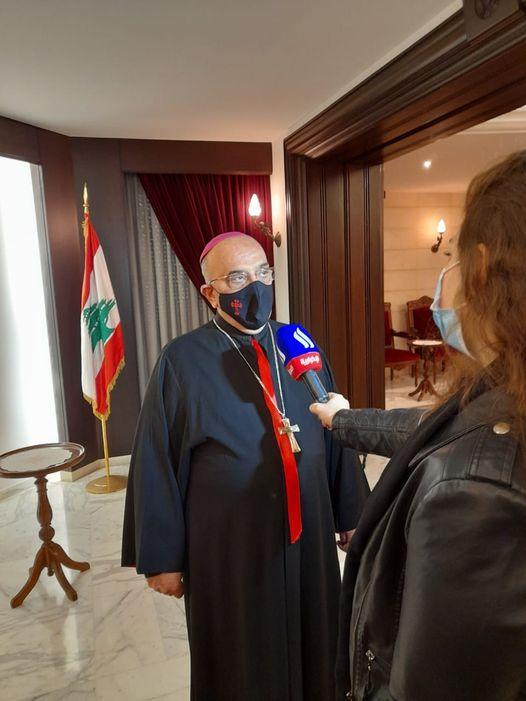 المطران قصارجي يتحدث عن زيارة البابا للعراق للتلفزيون العراقي