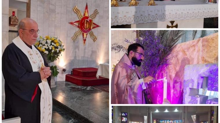 المونسنيور طرابلسي يحتفل بقداس سبت النور