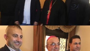 جمعية القديسة رفقا للأمل والرجاء تزور المطران قصارجي