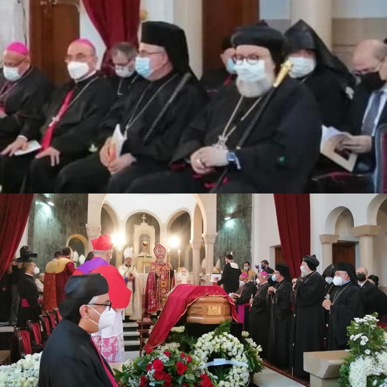 وفد من الكنيسة الكلدانية يشارك في جنازة البطريرك الارمن الكاثوليك